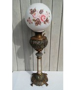 Outstanding Gone With The Wind Banquet Lamp Ornate Bradley & Hubbard c. ... - $325.71