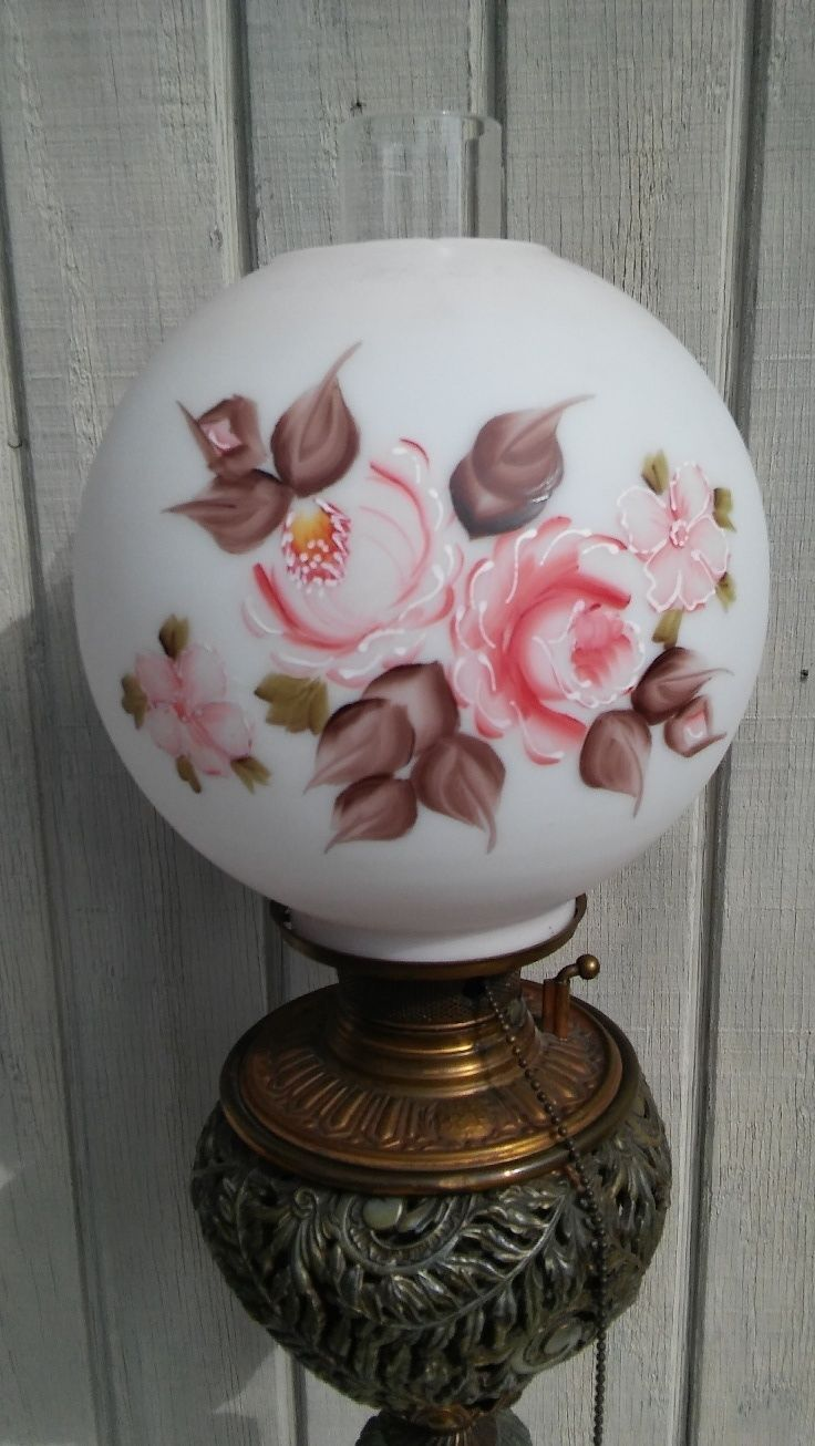 Outstanding Gone With The Wind Banquet Lamp Ornate Bradley & Hubbard c. 1880