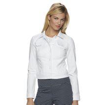 Elle Womens Size XL White Wash Denim Jean Jacket NEW $64 - $38.00