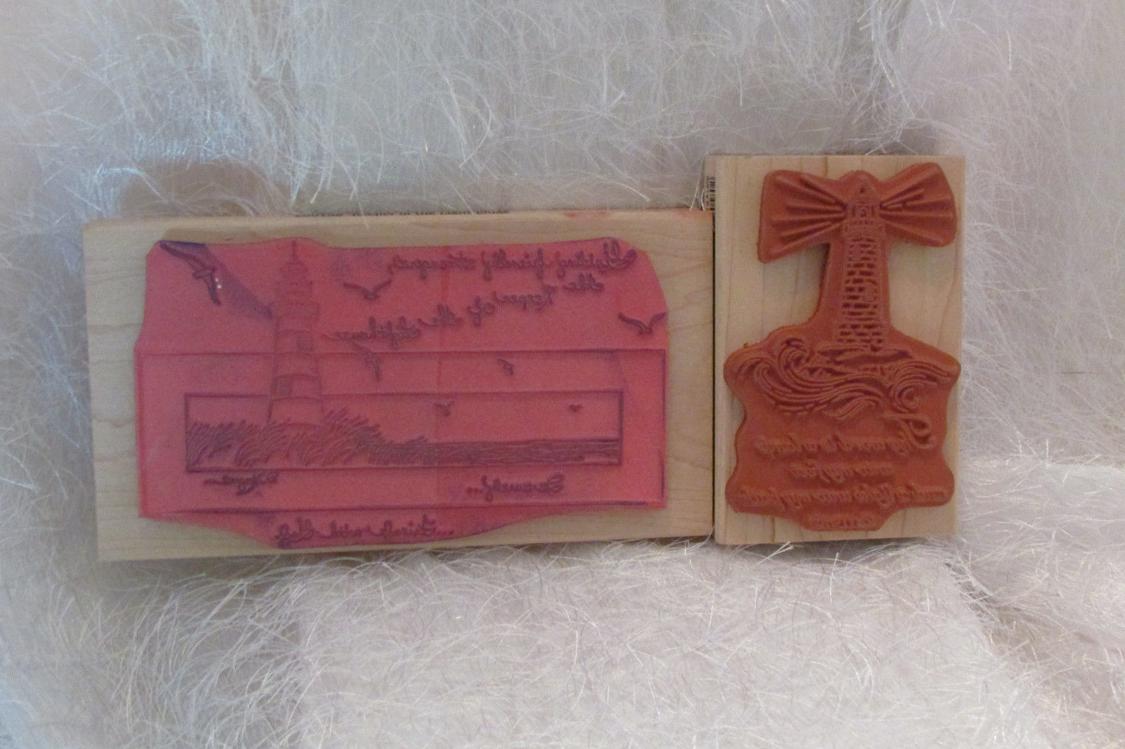 rubber stamps STAMPS HAPPEN, INC 2, The word is a lamp, Keeper of the lighthouse
