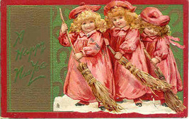 A Happy New Year 1908 Vintage Post Card - $7.00