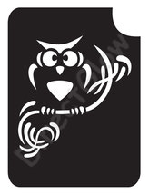 Owl On Branch 1003 Body Art Glitter Tattoo Makeup Stencil- 5 Pack - $5.95
