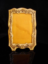 Antique Frame / art deco Photo frame / yellow celluloid wedding frame / ... - $2.423,85 MXN