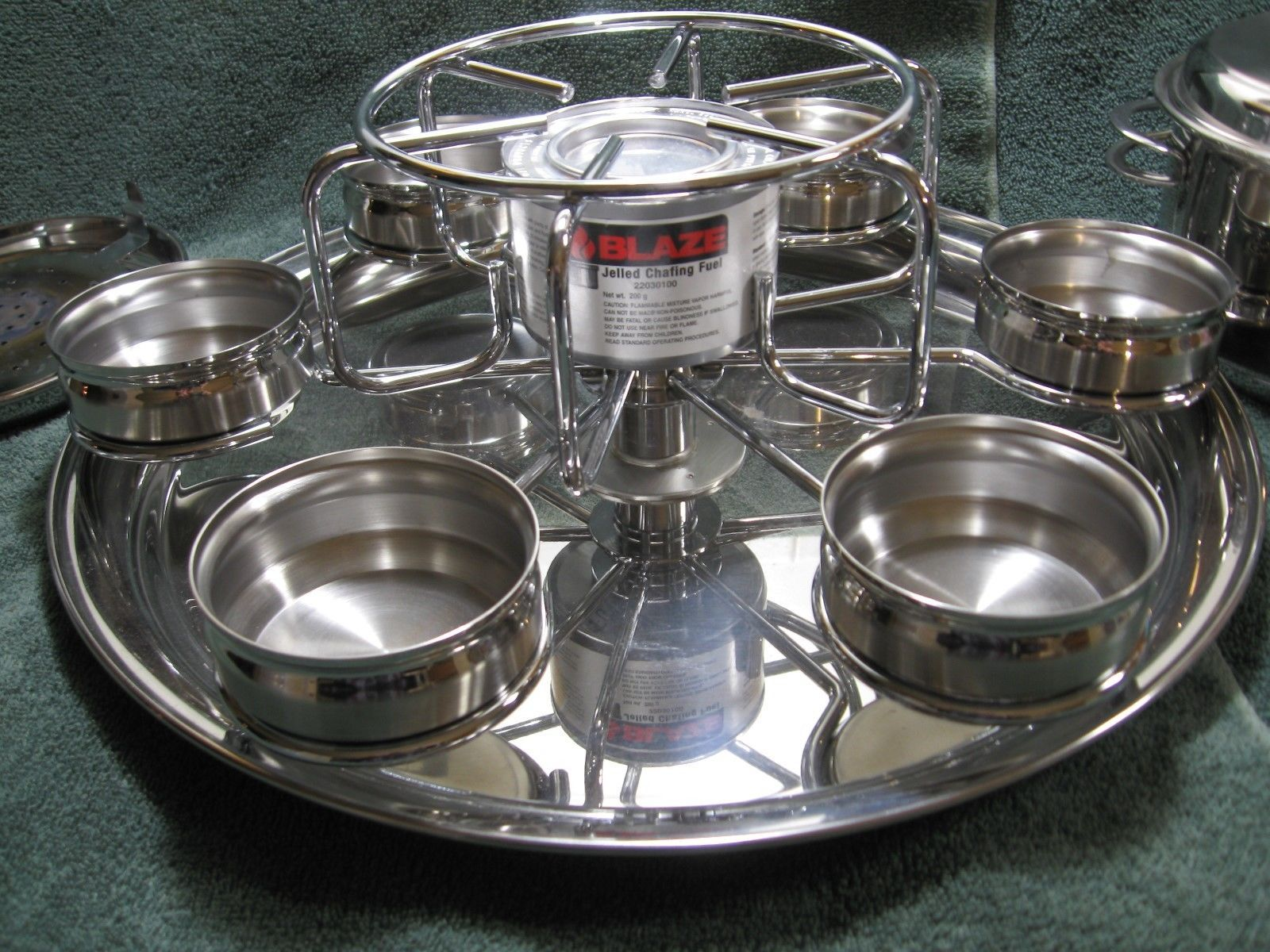 TRAMONTINA Deluxe Stainless Steel Fondue Set-Made in Brazil-Home Party-Display!!