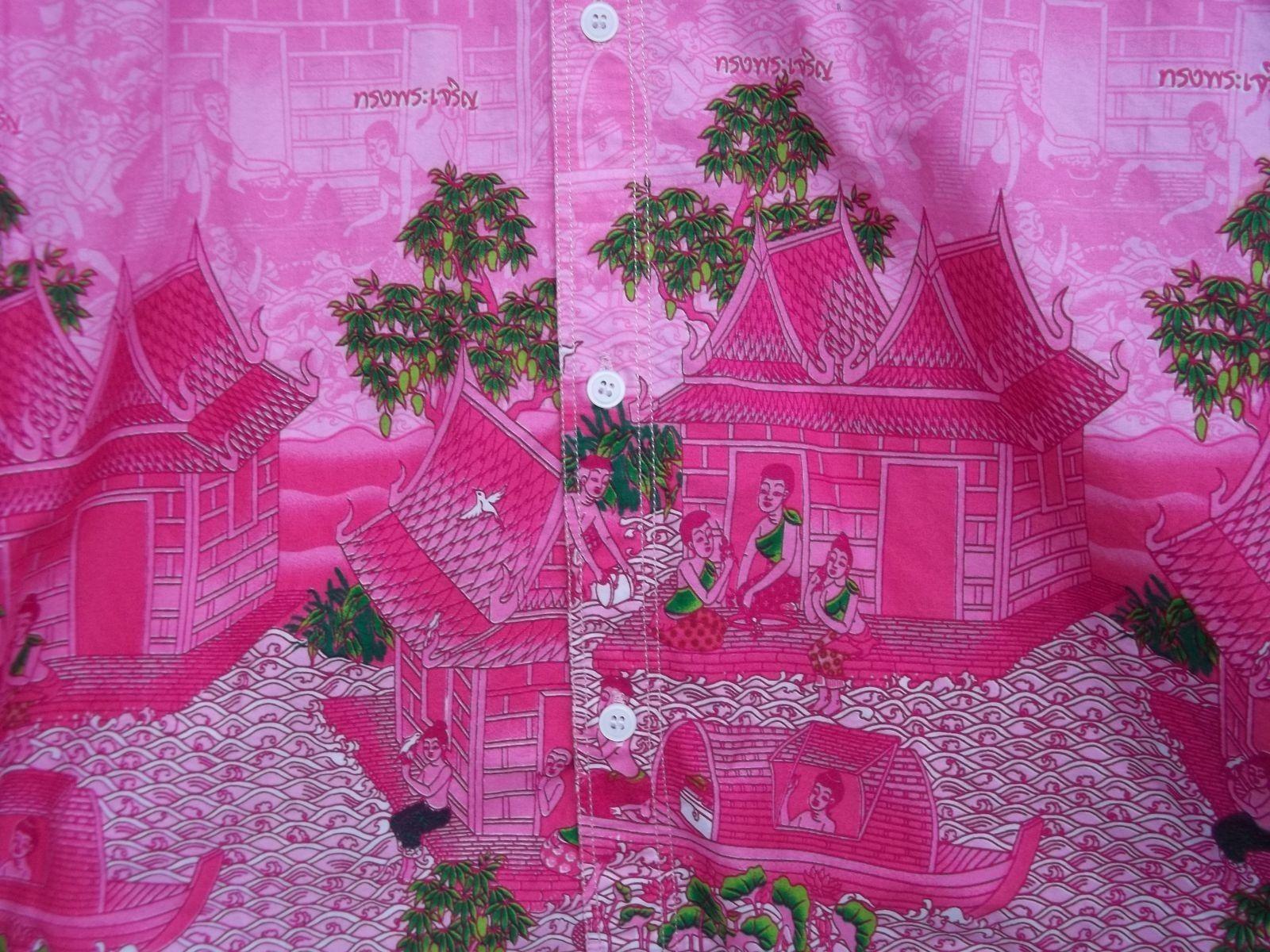 Real Men Wear Pink Shirt Thai Language Long Live The King  Long-Tail Boats