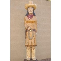 4' Cigar Store Indian Sculpture Annie Oakley Hand Carved BY: Frank Galla... - $939.00