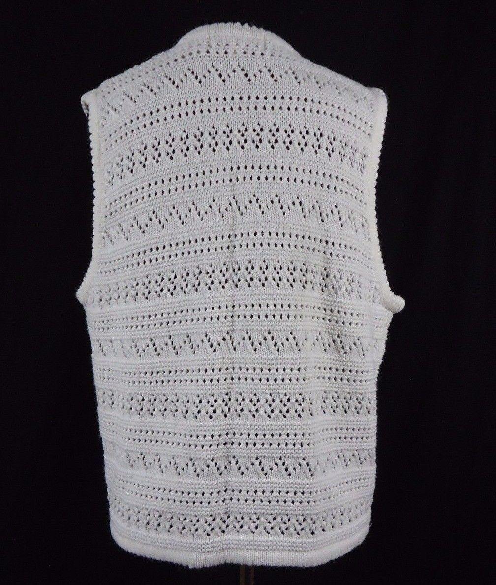 Vintage Bechamel Casual Knit Vest Pots, Flowers, Bugs & Fruit, Gardener