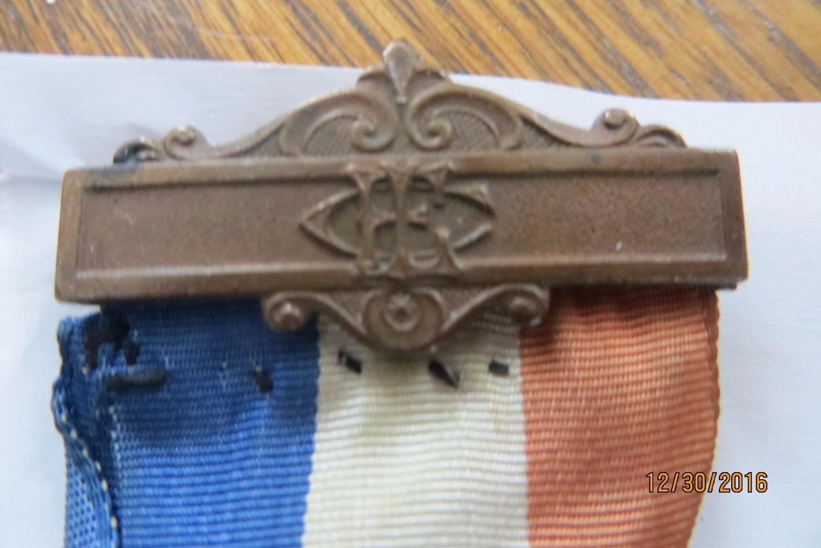 1883 historic antique dated Women's relief corps medal pin collectilbe