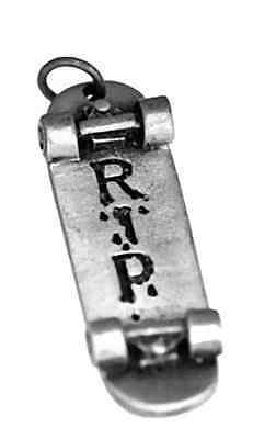 Skateboard RIP Sterling silver Charm Punk Game Jewelry