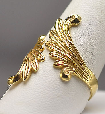 Heavenly Christmas Angel Gabriel Wings Ring Gold plated