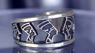 QUEEN NEFERTITI Egyptian Ring Egypt sterling silver 925