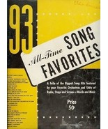 93 All Time Song Favorites Orchestra Radio Stage and Screen Songbook - $15.00