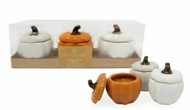 Chesapeake Bay Candle Pumpkin Spice Ceramic Pumpkin Jars 3 Piece Set  **... - $24.74