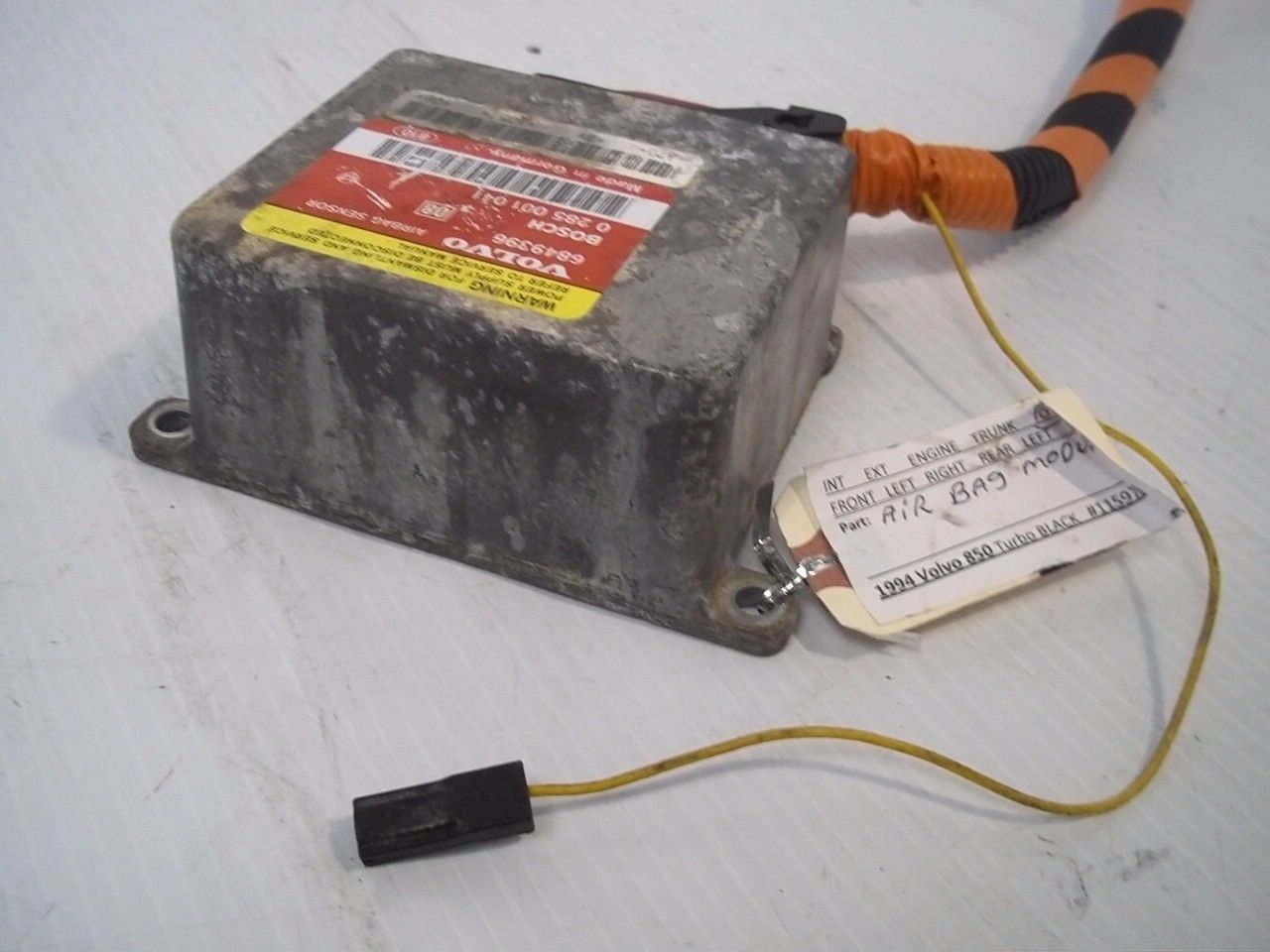 Volvo 850 Turbo 1994 Air Bag Safety Module Component Sensor OEM