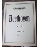 Beethoven Trios 1-6 Klavier No 166A Songbook - $12.99