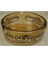 Carnival Glass Golden Nugget Gambling Ashtray - $12.99