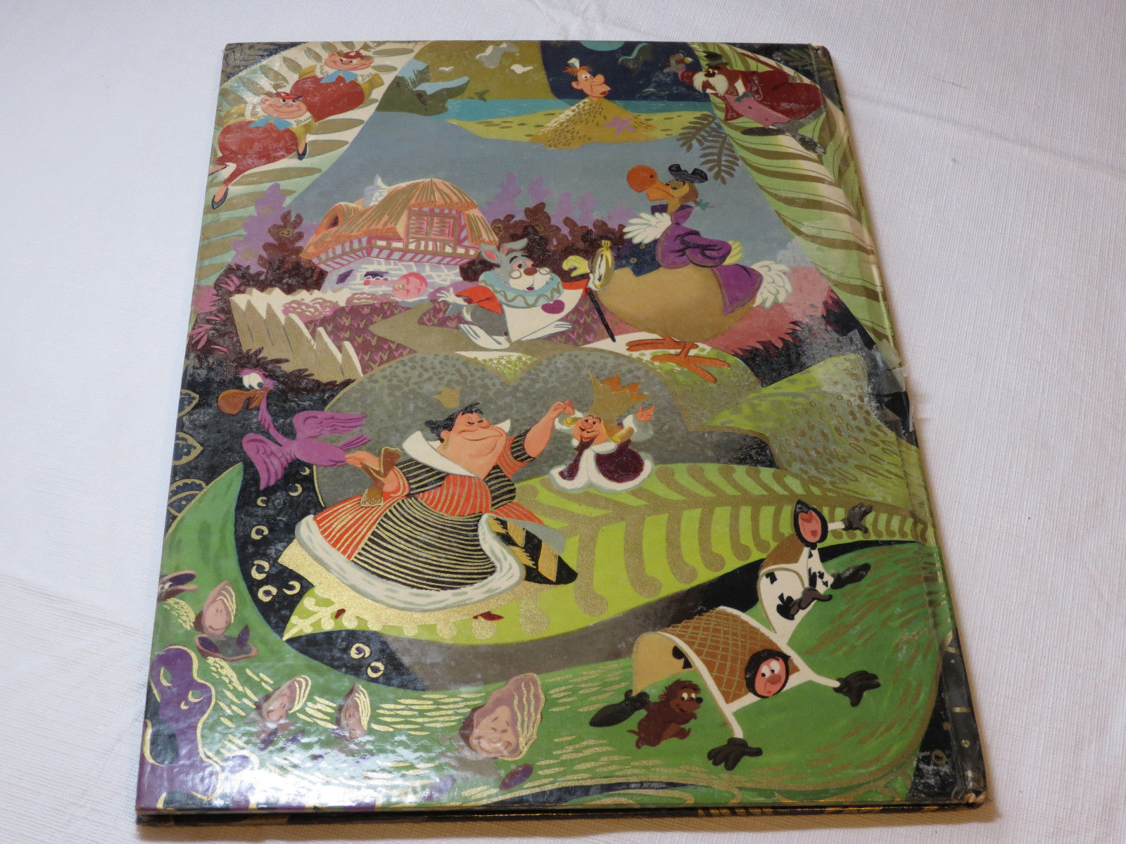 Walt Disneys Alice in Wonderland 1951 book Big Golden Hardcover Vintage