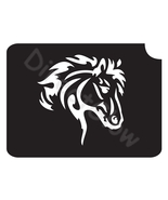 Horse 1001 Body Art Glitter Tattoo Makeup Stencil- 5 Pack - $5.95