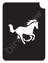 Horse Running 1005 Body Art Glitter Tattoo Makeup Stencil- 5 Pack - $5.95