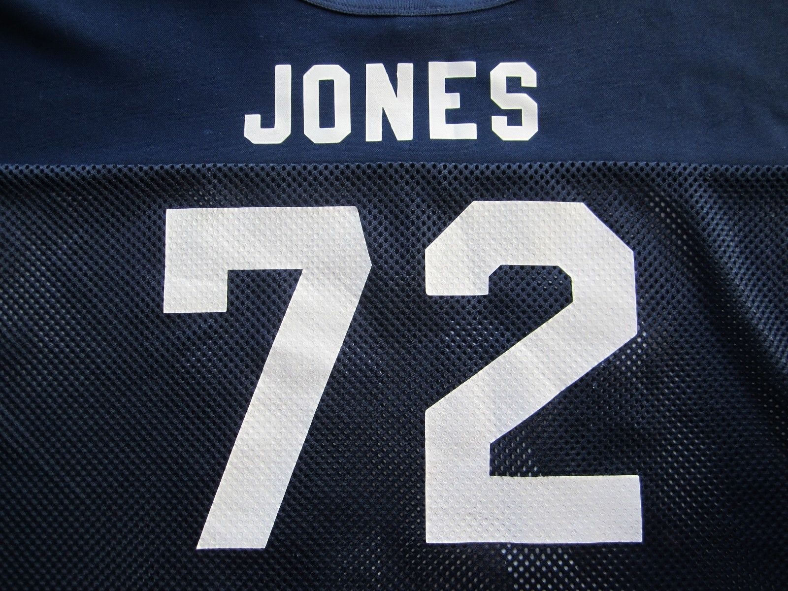 Vintage 1980s Dallas Cowboys Ed Too Tall Jones Russell Football Half Jersey #72