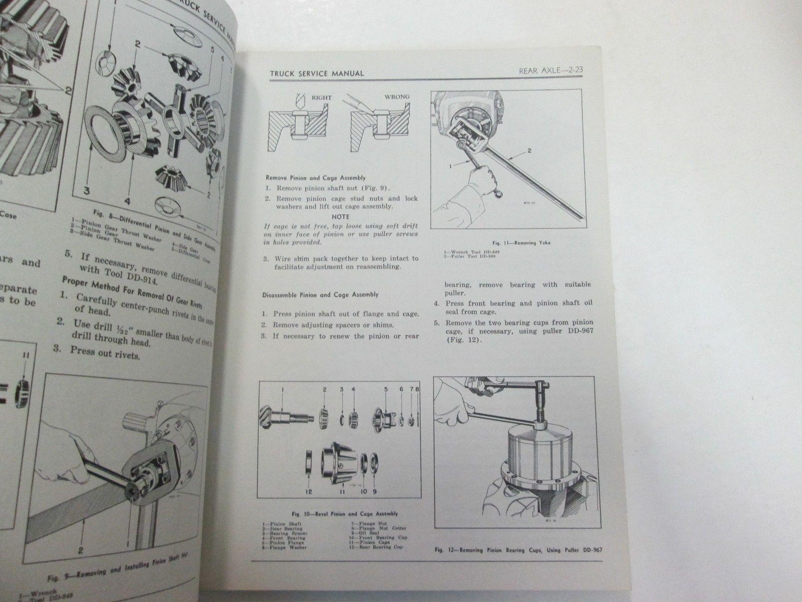 1959 Chrysler Truck Dodge Fargo D100 D300 400 500 700 FM6 FM8 Service Manual