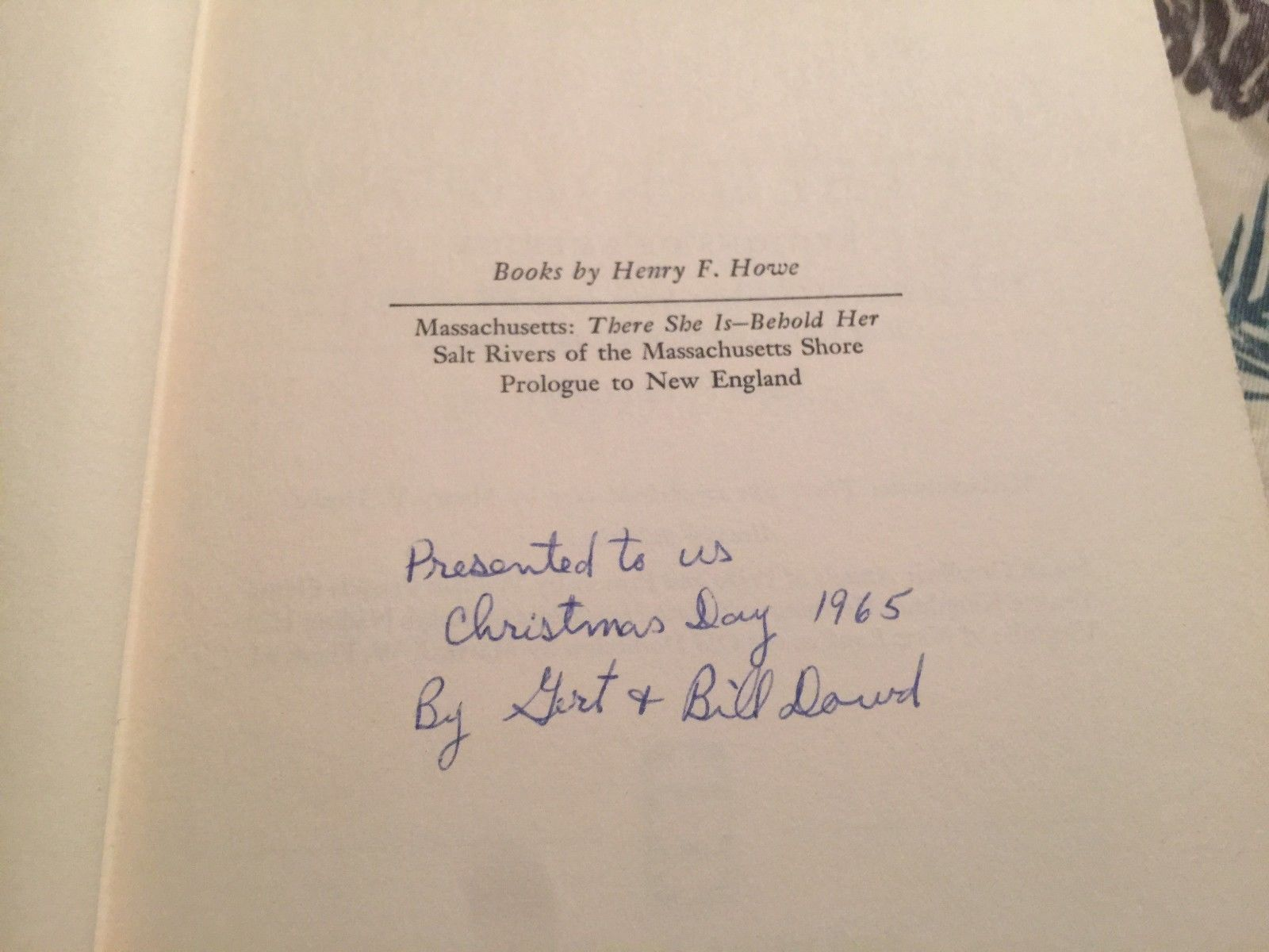 Massachusetts: There She Is - Behold Her by Henry Howe  1st ed (1960) HCDJ