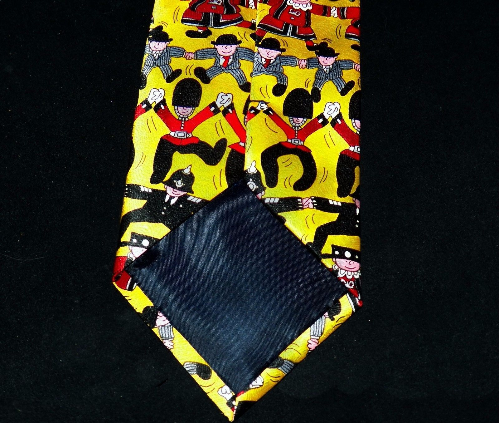 Tieline Silk London Icons Banker Bobby Policeman Guardsman Beefeater Yellow Tie