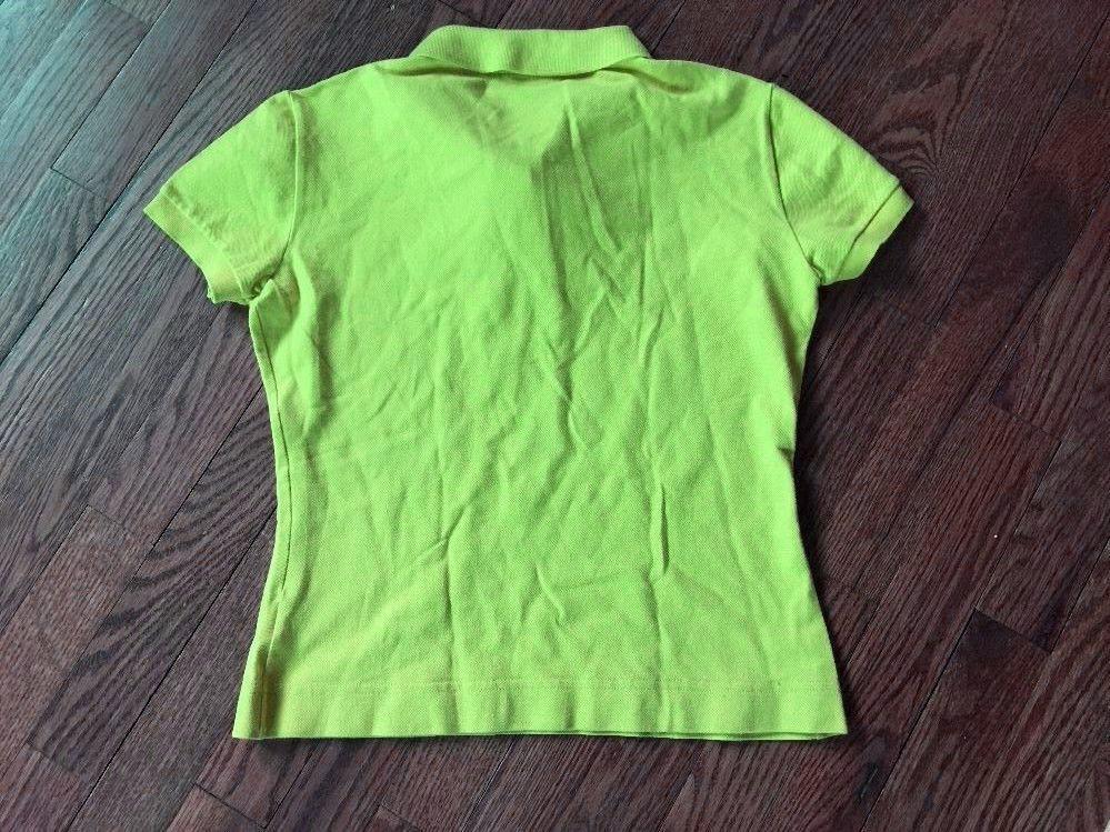 Girl's LACOSTE Classic Piqué Polo Shirt Bright Green Size 40