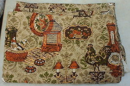 Country Scenes Fabric Orange Brown Rooster Bird Cage Lamps Dupont Savalux - $10.00
