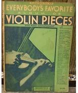 Everybody's Favorite Violin Pieces No 6 1934 Songbook - $10.00