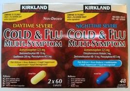 Kirkland COLD Multi-Symptom Daytime Non-Drowsy Nighttime Severe Pain Rel... - $16.99