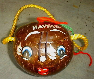Primary image for Hawaiian Coconut Funny Face Purse or Gift Box Souvenir of Hawaii