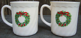 House Of Salem Porcelle Made In France Noel Christmas Mugs Cups - $12.95