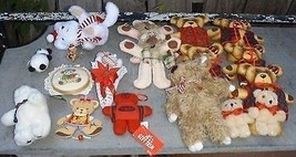 Large Assortment Lot of Christmas Bear Ornaments & Salt Shaker - $24.99