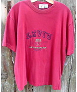 Levi's Legendary Quality  Embroidered Short Sleeve Cotton T-Shirt Red L ... - $16.95