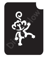 Monkey 1018 Body Art Glitter Tattoo Makeup Stencil- 5 Pack - $5.95