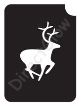 Deer Running 1004 Body Art Glitter Tattoo Makeup Stencil- 5 Pack - $5.95