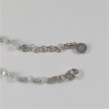 925 RHODIUM SILVER BRACELET WITH ANGEL AND GREY CRYSTALS 7.09 IN image 2