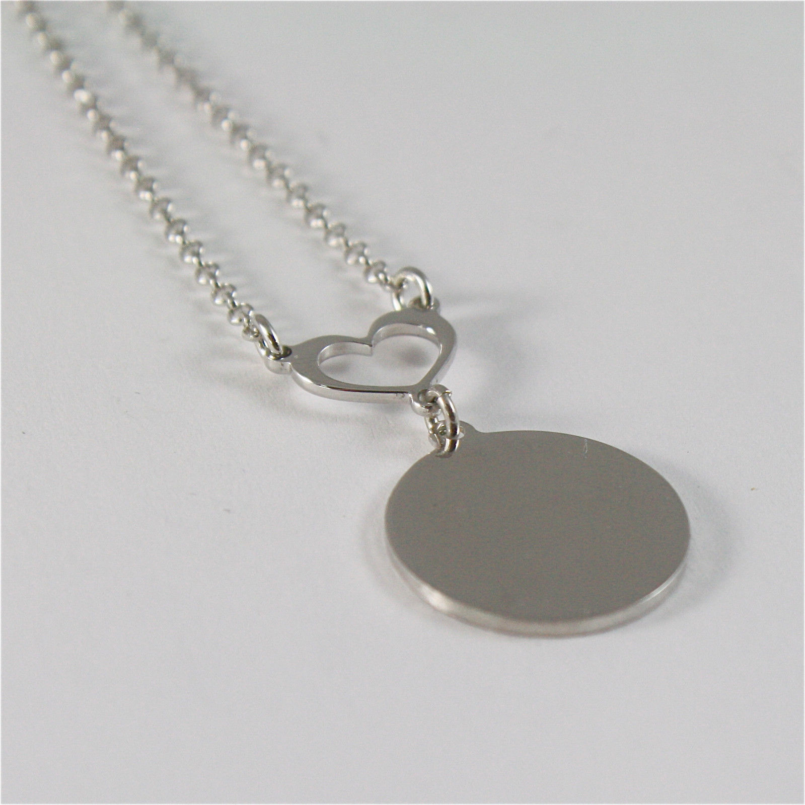 925 RHODIUM SILVER NECKLACE FOOTPRINT OF A PAW AND MOTHER OF PEARL MADE IN ITALY