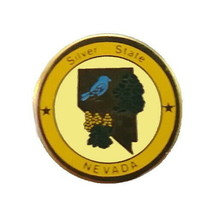 Nevada State Bird Flower Nickname Shape Tree Travel Vacation Hat Lapel N... - $5.38