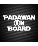 car00182| Decal  Star wars Padawan on board - $3.25+