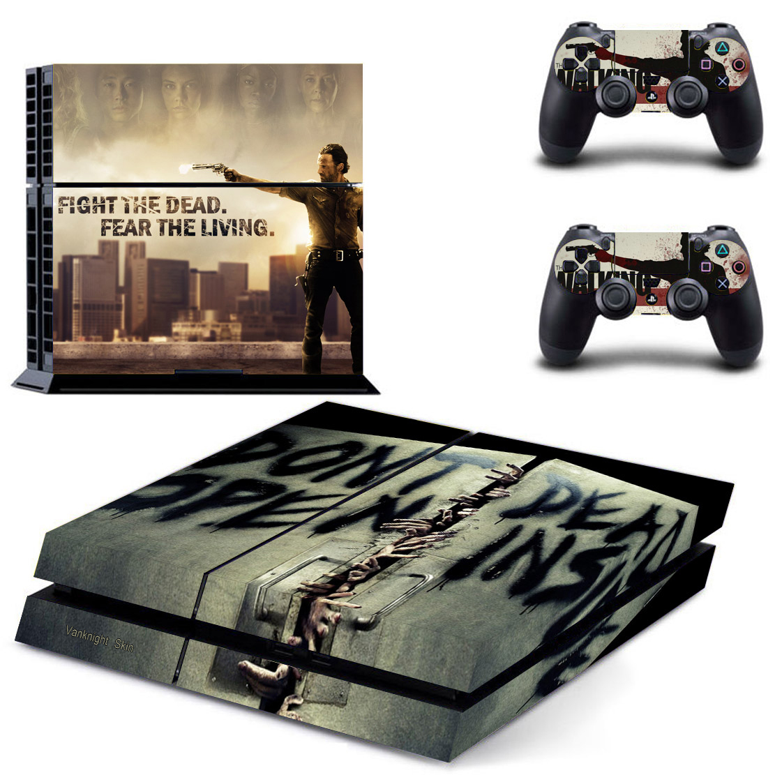 ps4 console skin the walking dead vinyl decal sticker for. Black Bedroom Furniture Sets. Home Design Ideas