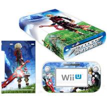 Nintendo Wii U Console Skin Anime Xenoblade Vinyl Skin Decals Stickers f... - $13.00