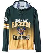Klew Men's NFL Green Bay Packers Super Bowl XXXI Champions Hoody T-Shirt - $19.95