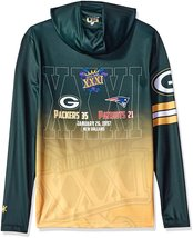 Klew Men's NFL Green Bay Packers Super Bowl XXXI Champions Hoody T-Shirt image 2