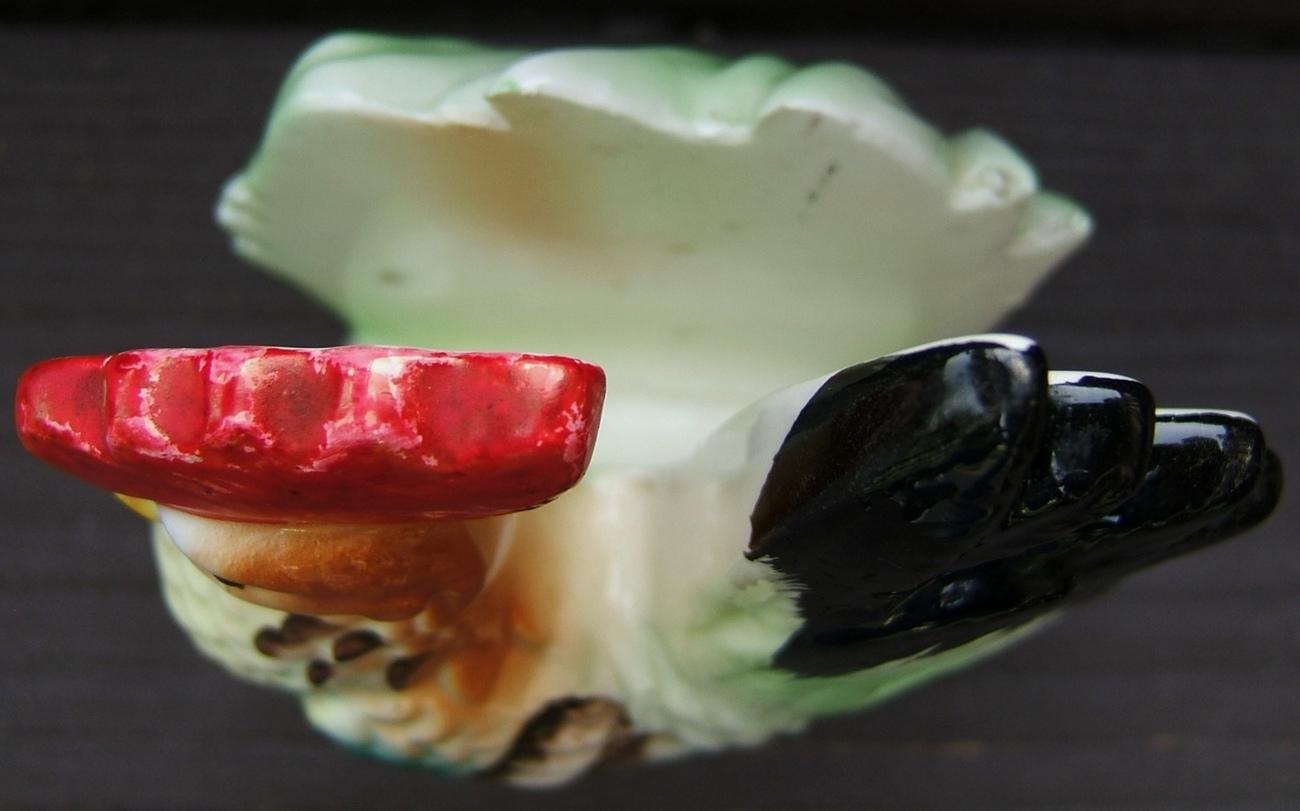Vintage ROOSTER CHICKEN Ceramic NAPKIN HOLDER 1960s JAPAN Vintage KITCHENWARE