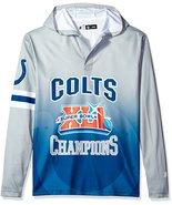 Klew Men's NFL Indianapolis Colts Super Bowl XLI Champions Hoody T-Shirt - $19.95