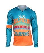Klew Men's NFL Miami Dolphins Super Bowl VII Champions Hoody T-Shirt - $19.95