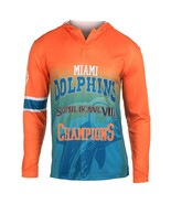 Klew Men's NFL Miami Dolphins Super Bowl VIII Champions Hoody T-Shirt - $19.95