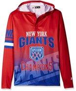 Klew Men's NFL New York Giants Super Bowl XXV Champions Hoody T-Shirt - $19.95